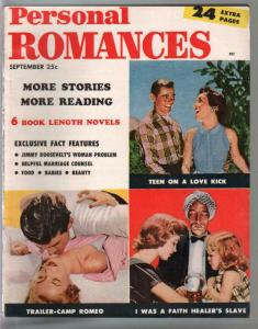 Personal Romances 9/1954-Ideal-exploitation-pulp thrills-posed photos-FN