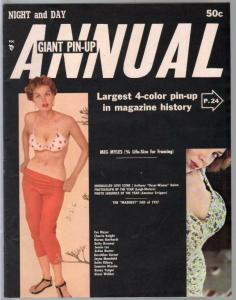 Night and Day Giant Pin-Up Annual #1 1958-1st issue-Bunny Yeagerr-VF