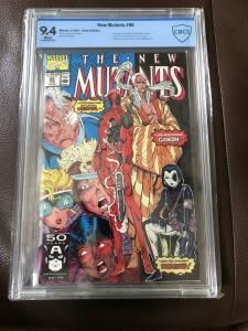 1991 MARVEL NEW MUTANTS #98 1ST APPEARANCE DEADPOOL CBCS 9.4