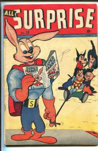 ALL SURPRISE #10 1946TIMELY-SUPER RABBIT-vg