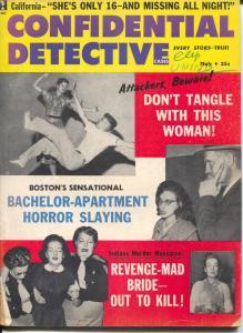 Confidential detective 5/1961-crime stories with photos-widows death trap-VG