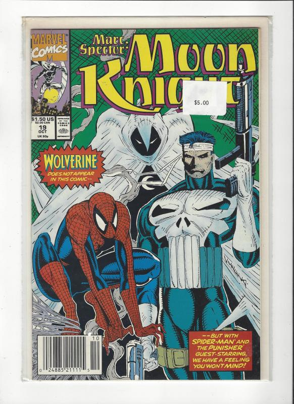 Marc Spector: Moon Knight #19 Spider-Man Punisher NM