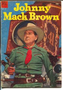 Johnny Mack Brown-Four Color Comics #618-Dell-photo covers-B-Western star-VG