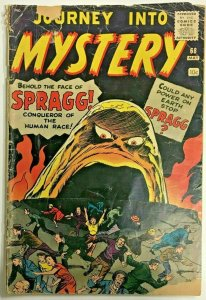 JOURNEY INTO MYSTERY#68 FR/GD 1961 MARVEL SILVER AGE COMICS