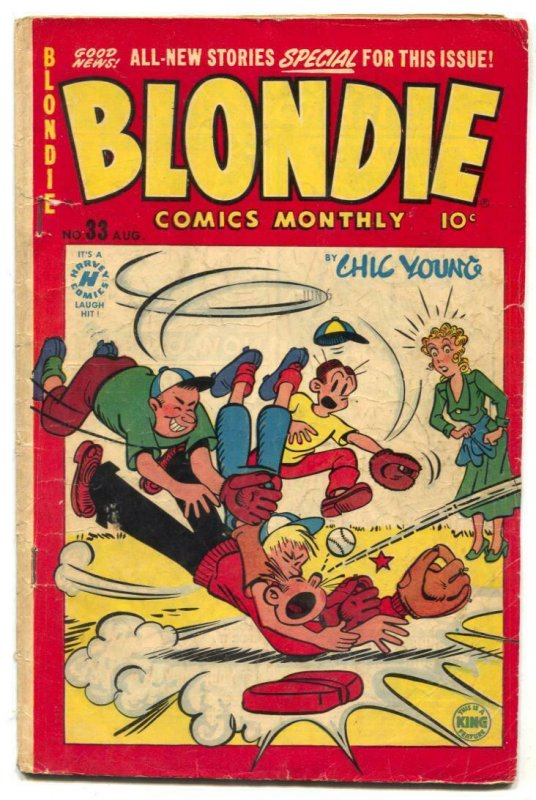 Blondie Comics #33 1951- Harvey Golden Age VG