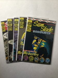 Sam Slade Robo Hunter 1 2 3 5 7 Lot Run Set Near Mint- Nm- 9.2 Quality Comics