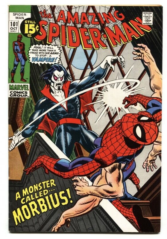 Amazing Spider-Man #101-1st Vampire Morbius Key Bronze Age comic VF+