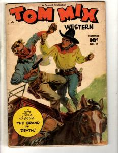 Tom Mix Western # 14 VG/FN Fawcett Golden Age Comic Book Photo Cover Cowboy JL2