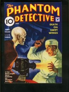 PHANTOM DETECTIVE JAN 1935 PULP REPRINT-DEATH ON SWIFT WINGS-ADVENTURE  VF/NM