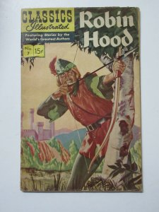 Classics Illustrated- Robin Hood and His Merry Men HRN 167 G+