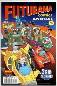FUTURAMA ANNUAL #1, NM, Bongo, Fry, Bender, Leela, Prof Farnsworth more in store