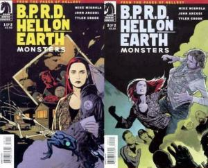 BPRD HELL ON EARTH MONSTERS (2011 DH) 1-2  Mike Mignola