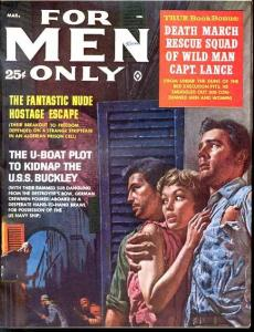 FOR MEN ONLY 1961 MAR-U-BOAT/NUDE HOSTAGE FN