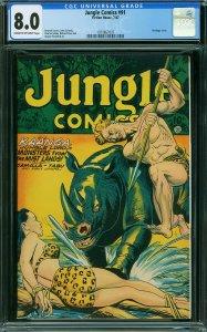Jungle Comics #91 (CGC 8.0) 1947 Fiction House