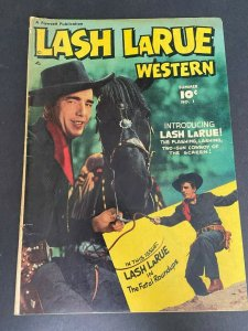 Lash LaRue Western 1 VG- (Fawcett June 1949)