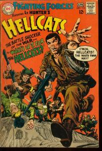 OUR FIGHTING FORCES #112-LT. HUNTER'S HELLCATS-DC WAR VG