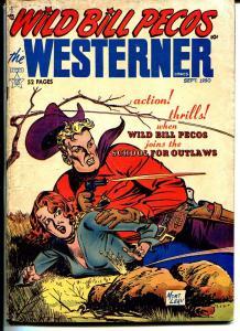 Wild Bill Pecos Westerner #28 1950-Mort Leav-headlights-Queen Cobra-bondage-VG