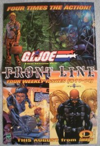 GI JOE FRONT LINE Promo poster, 11x17, 2003, Unused, more Promos in store