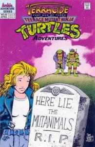Teenage Mutant Ninja Turtles Adventures (2nd Series) #55 VG; Archie   low grade