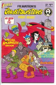 Ghostbusters #1 1986-First-1st issue-based on TV cartoon series-VF