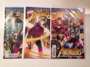 Avengers 1-6 Heroic Age Near Mint Lot Set Run Bendis Romita jr