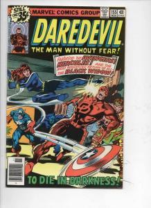 DAREDEVIL #155 FN/VF  Murdock, Black Widow, Avengers, 1964 1978, Marvel