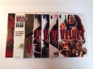 Velvet 1-7 Near Mint Lot Set Run Brubaker Epting