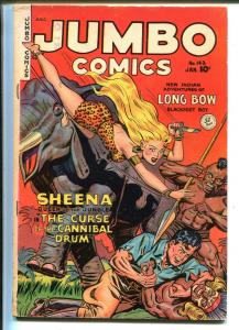 Jumbo #141 1951-Fiction House-2 Sheena stories-Ghost Gallery-Hawk-Kamen-FN-