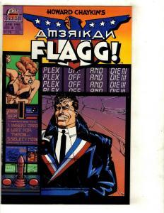 Lot Of 11 Comic Books Amerikan Flagg 2 3 4 5 American Flag 1 4 6 (2) 7 8 9 JF17