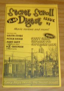 Secret Scroll Digest #1 VF/NM peter david interview - lilith stabs - fanzine