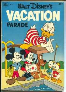 Walt Disney's Vacation Parade #3 1952-Dell-Mickey Mouse-Donald Duck-VG