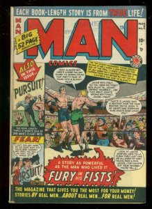 MAN COMICS #2 1950-MARVEL-CAPTAIN TOOTSIE-BOXING-TUSKA VG/FN