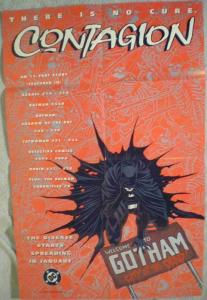 BATMAN CONTAGION Promo poster, 22x33.5, 1995, Unused, more Promos in store