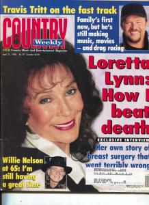Country Weekly-Loretta Lynn-Willie Nelson-Travis Tritt-April-1998