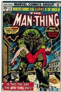 MAN THING (1974) 22 VG-F Oct. 1975