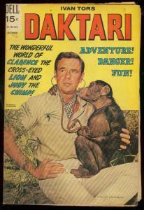 DAKTARI #4 1969-DELL COMICS-IVAN TORS-MARSHALL THOMPSON VG