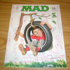 Mad Magazine #134 FN april 1970 - fake signature issue - tire swing cover RARE