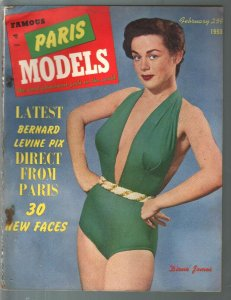 Famous Paris Models 2/1953-Diane James-cheesecake-swimsuits-models w/ comics-FR/