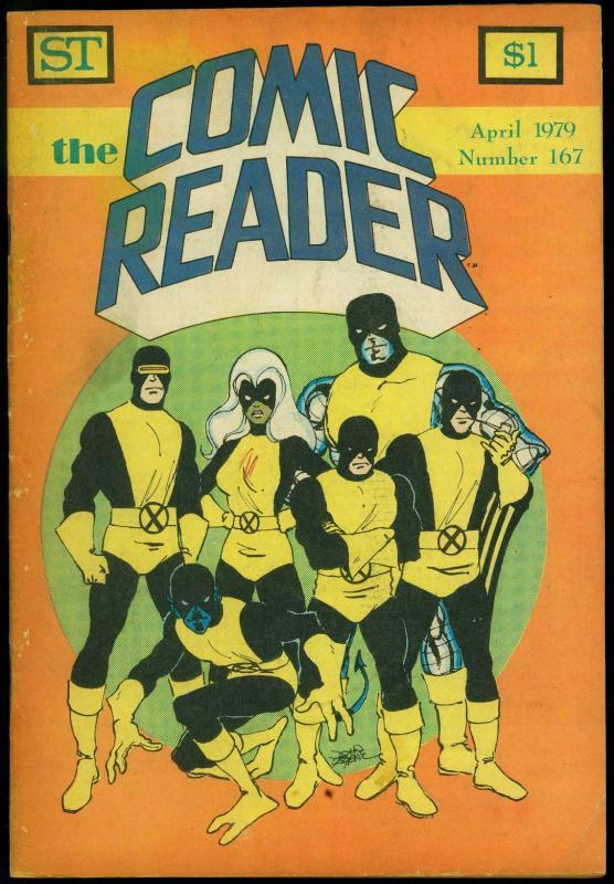 Comic Reader #167 1979- Fanzine- X-Men cover VG