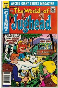 ARCHIE GIANT SERIES 487 VF Oct. 1979. WORLD OF JUGHEAD