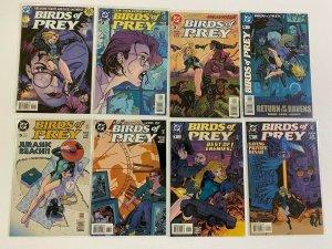 Birds of Prey lot 48 from #1-49 missing #8 avg 8.0 VF #1 is 4.0 VG (1999-2003)