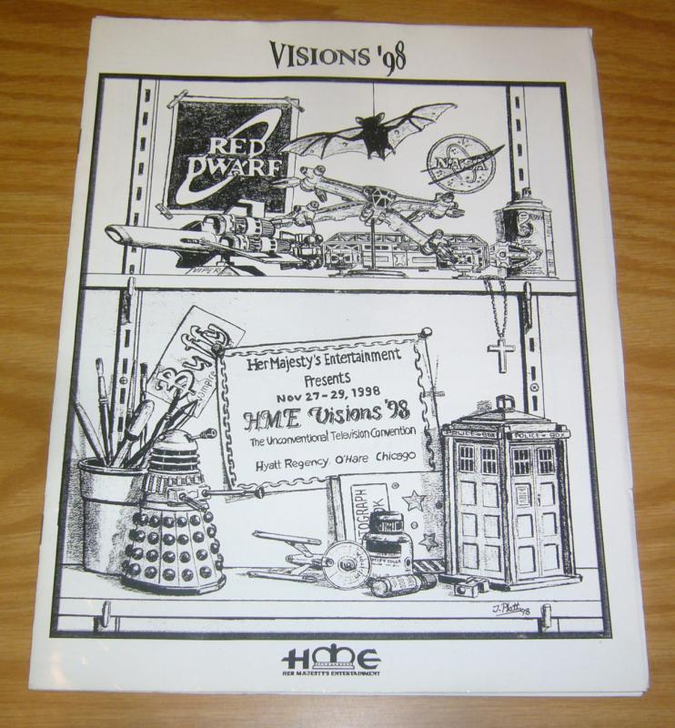 Visions '98 Program VF- signed by nicholas brendon, sylvester mccoy, & more