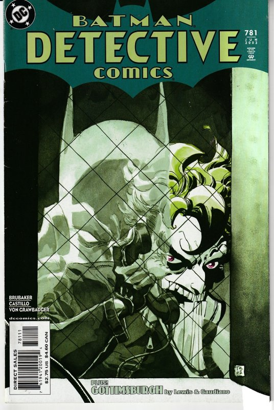 Detective Comics(vol. 1) # 775,779,780,781,782,783 Joker ! Riddler ! Two Face !