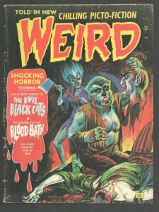 Weird Vol. 8 #4 1974-Eerie-Decapitation cover-Pre-code horror type comic stor...