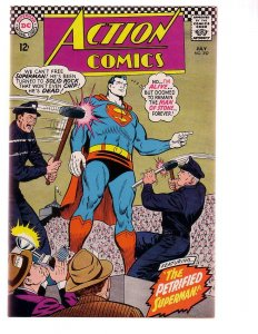 ACTION COMICS #352 1967-SUPERMAN-PETRIFIED SUPERMAN!!! VF