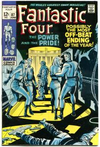 FANTASTIC FOUR #87, FN+, Doctor Doom, Jack Kirby, 1961, more FF in store, QXT