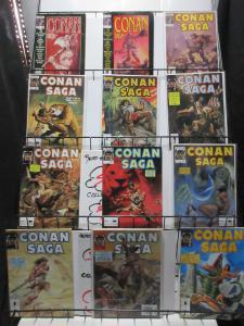 Conan Saga Mini-Library Lot of 22Diff from #4-95 Savage Barbarian Stories!
