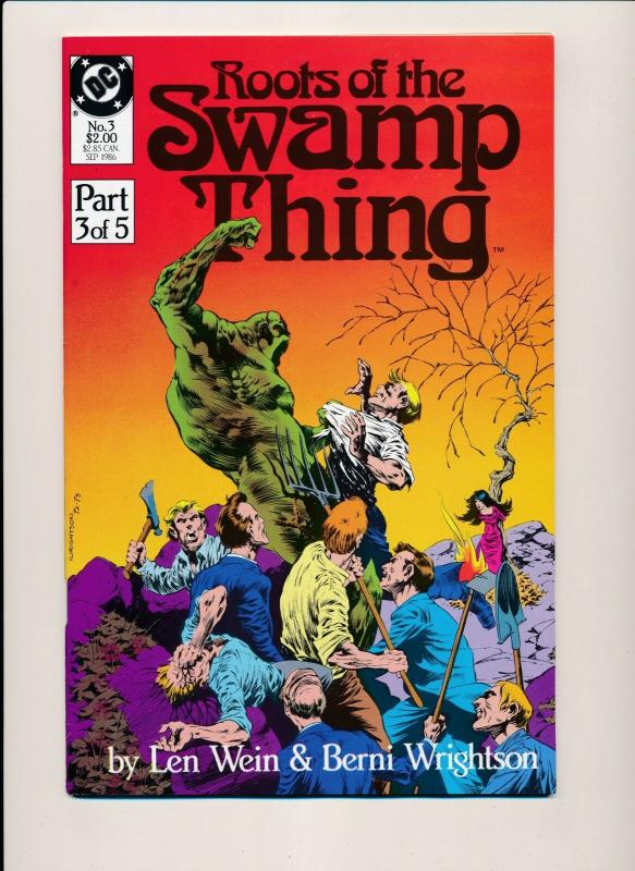 Roots of the SWAMP THING #3 DC Comics 1986 VF (PF400) Berni Wrightson, Len Wein
