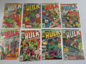 Hulk comic lot from #201-249 42 different books average 4.0 VG (1976-80)