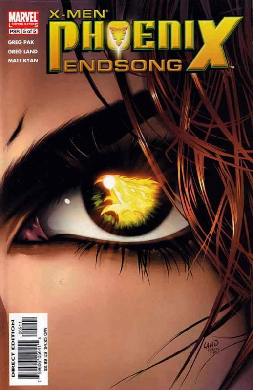 X-Men: Phoenix—Endsong #5 VF/NM; Marvel | save on shipping - details inside